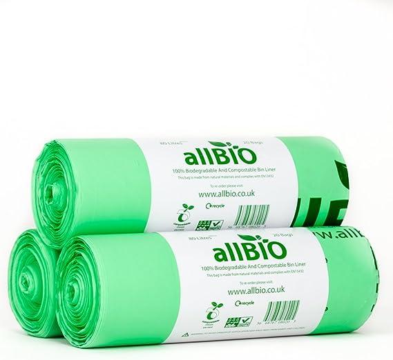 allBIO 80 Litre x 60 Bags 80 Litre 100% Biodegradable ...