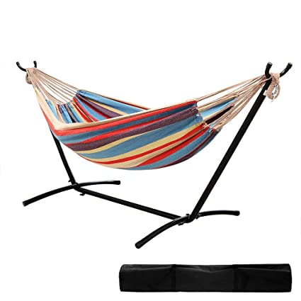 garden with co outdoors amazon dp double uk cotton multi hammock vivere stand colour oasis