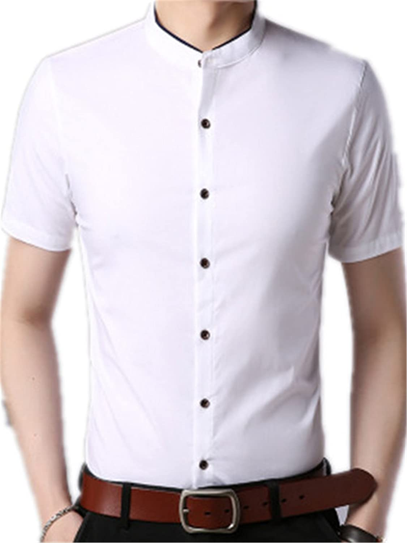 MCieloLuna Mens Short Sleeve Dress Shirts Slim Fit Button Down Shirt/¡/