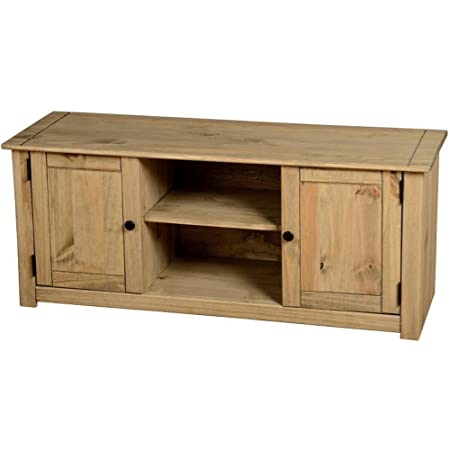 Panama 2 Door 1 Shelf Flat Screen TV Unit - Solid Pine with a ...