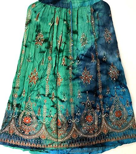 Hippie Estate Indiano 50 Sundress Del Womans Danza Ventre Signore Colorful Boho Gonna Paillettes Zingaresco Maxi pqF1xI0n