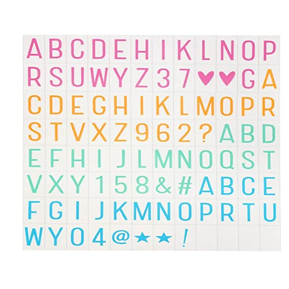 Amazon.com: Iusun A Set of Coloful Letters & Symbols FOR A3 ...