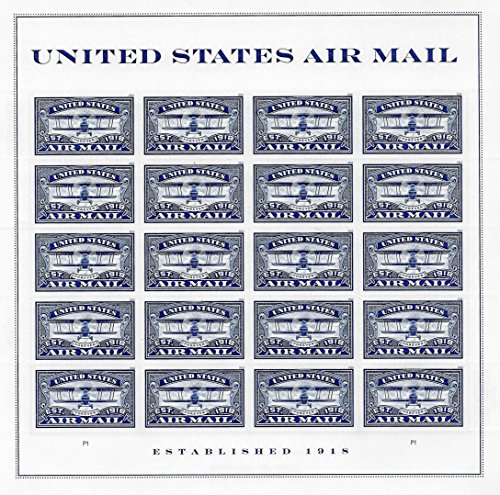 USPS Forever Stamp: Air Mail Blue (Blue, 1 Sheet (20 Stamps))