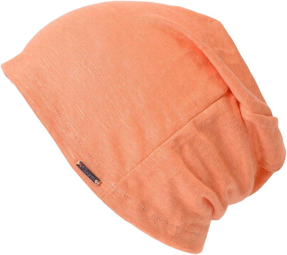 Casualbox Womens Oversized Beanie Linen Summer Made in Japan Hat Knit Cap Lightweight