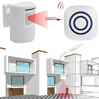top-sell detector de detector de movimiento inalámbrico entrada de puerta puerta Bell Bienvenue alerta