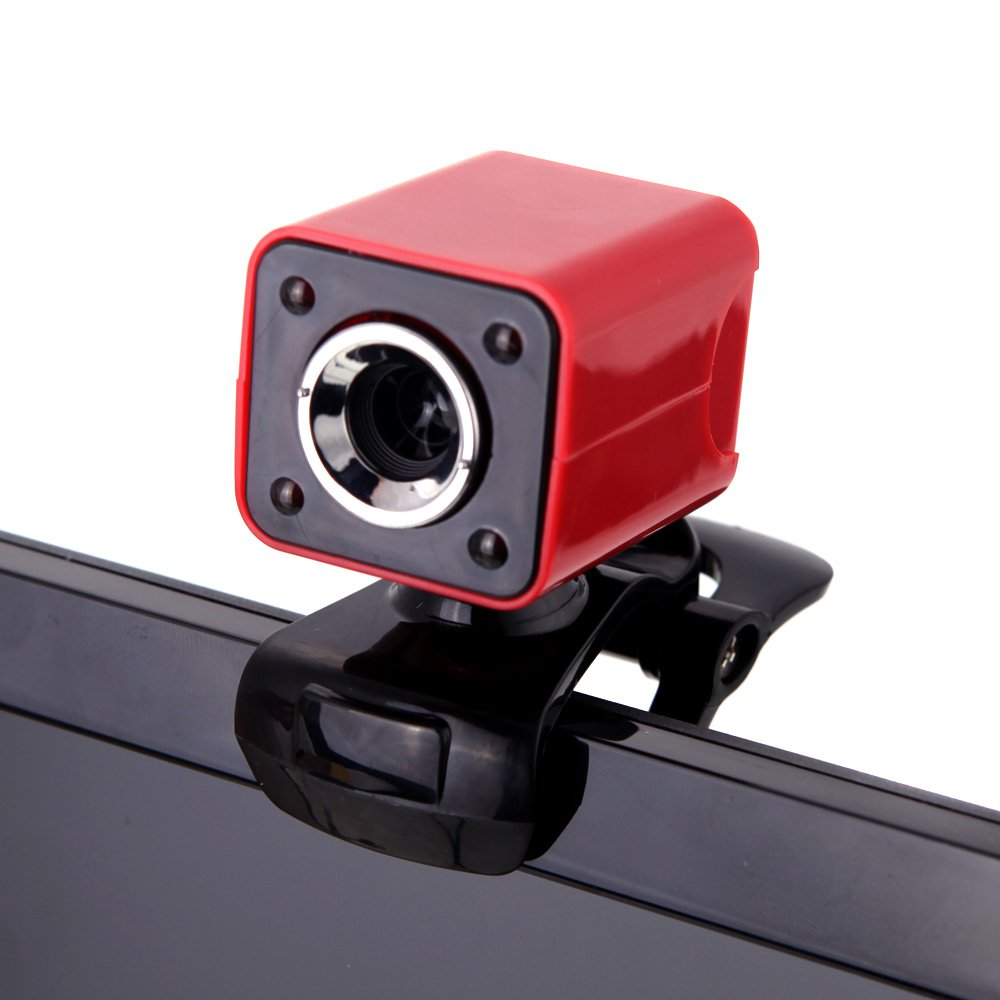Night Vision Webcam Cam Camera Clip-on w// MIC for Computer PC Laptop Desktop FL