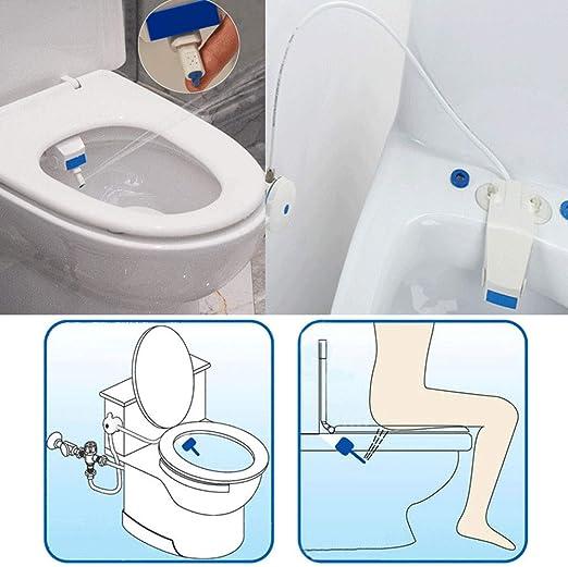 Smart Toilet Bidet Sprayer Cleaner Seat Wash Fresh Water Bathroom Flushing