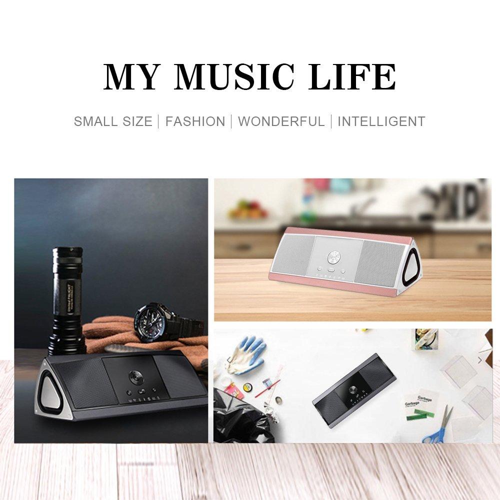 HUKOER HIFI Bluetooth Altavoz estéreo con reproducción de 10 horas por solo 74,99€