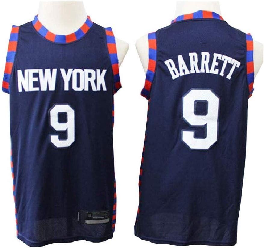 CCKWX New York Knicks # 9 R.J Barrett Baloncesto Vintage Jersey ...