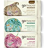 GoMacro Variety Pack, Peanut Butter Chocolate Chip/Granola Coconut/Cherries/Berries, 2 Ounce (Pack of 12)