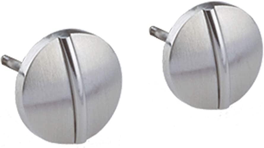 Ernstes Design Ohrringe Ohrstecker E485 Edelstahl mit Perle 5 mm Stecker