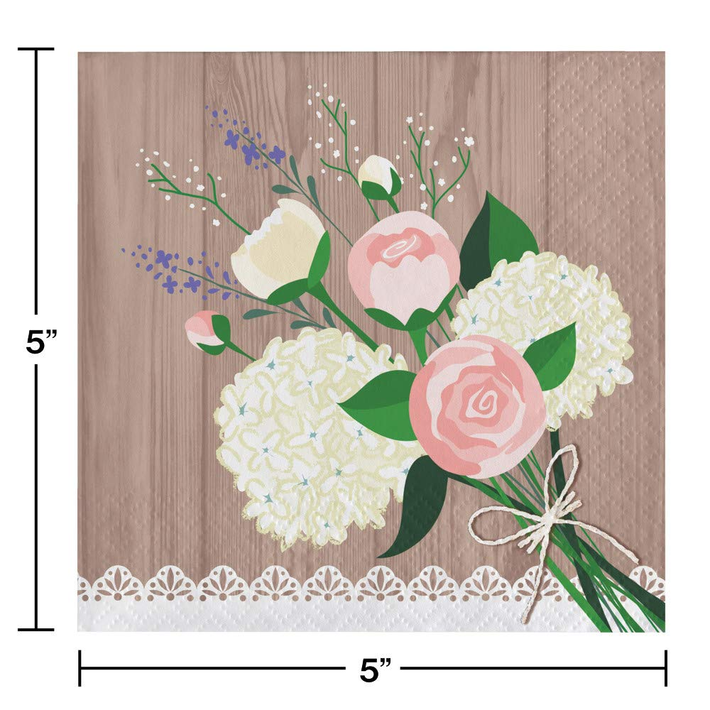 Large Rustic Wedding Bridal Shower Party Supplies Kit, Serves 24 by Creative Converting (Image #6)