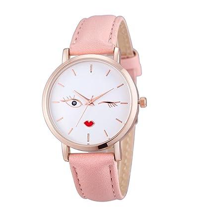 Relojes Pulsera Mujer, Xinan Cuero Analógico de Acero Inoxidable Reloj de Pulsera de Cuarzo (
