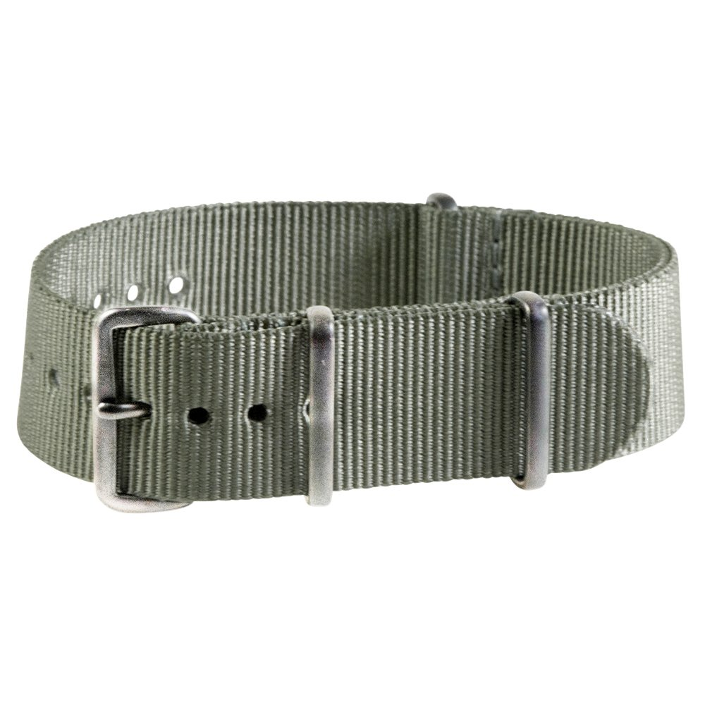 Extra Long - 22mm Premium Nato Ss Nylon Slate Green Watch Strap Band by Clockwork Synergy, LLC (Image #1)