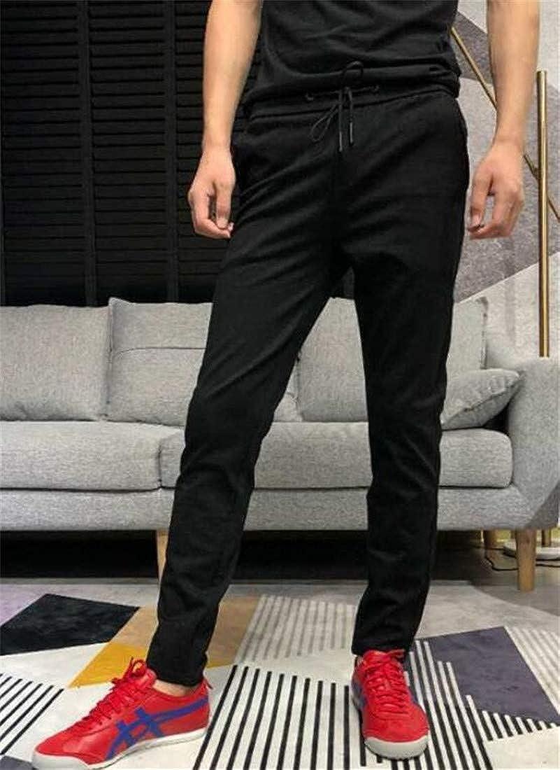 Lutratocro Mens Slim Sweatpants Stretch Elastic Waist Athletic Trousers Pants