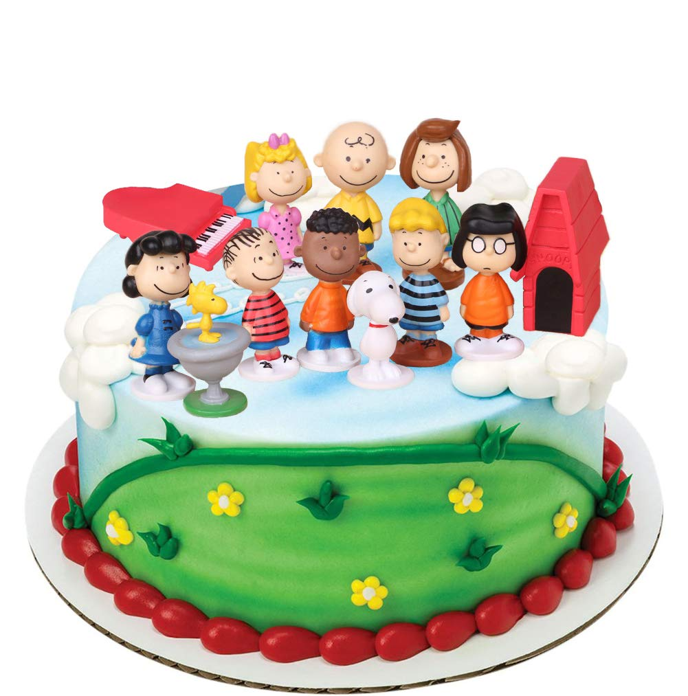 Excellent Peanuts Movie Classic Characters Birthday Cake Topper Set Funny Birthday Cards Online Alyptdamsfinfo