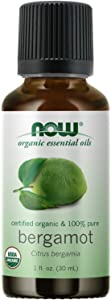 NOW Essential Oils, Organic Bergamot Oil, Sweet Aromatherapy Scent, Cold Pressed, 100% Pure, Vegan, Child Resistant Cap, 1-Ounce