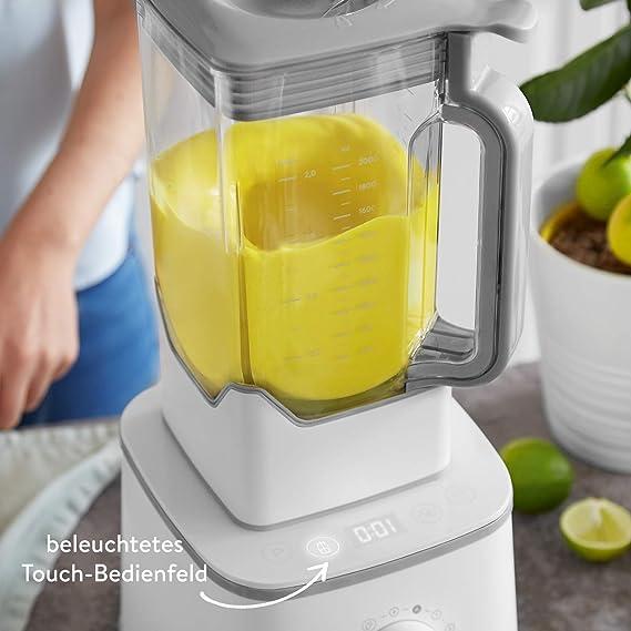 Batidora de vaso HANNO, licuadora para verduras y frutas, Vaso de Tritan 2.5L libre de BPA, 2000W, 32.000 RPM Blender Smoothie Maker alto rendimiento ...