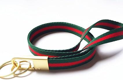 Lanyard Home - Correa para el cuello de tela resistente, color verde, rojo: Amazon.es: Oficina y papelería