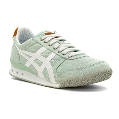 Onitsuka Tiger Women's Ultimate 81 Classic Running Shoe, Palm House/White,  ...