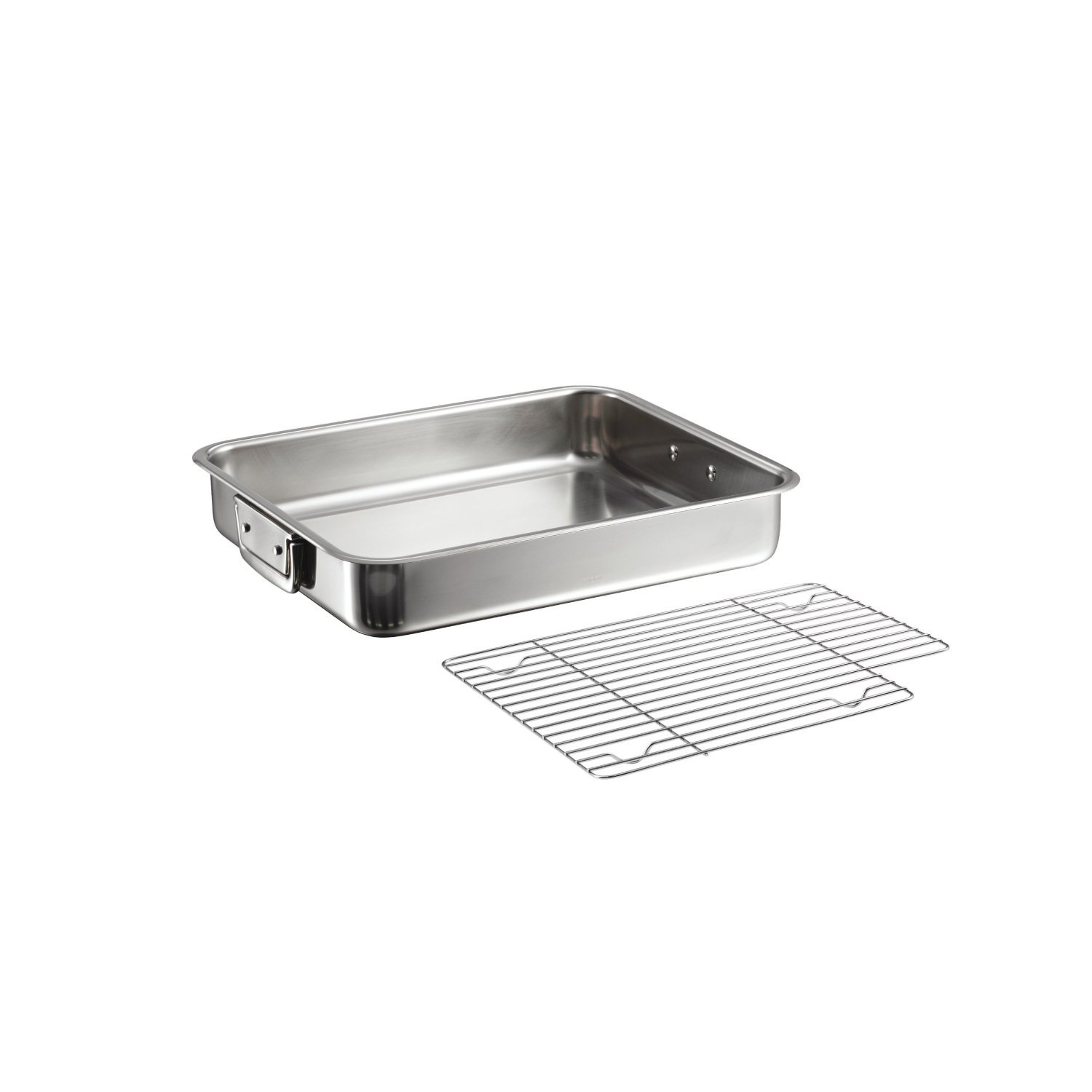 Roasting Pan Tramontina 16.5 in 18/10 Stainless Steel with Basting Grill by Tramontina