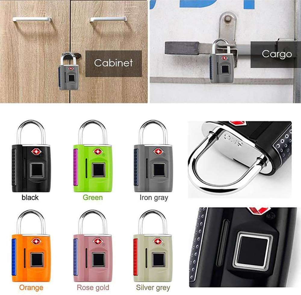 CNLOYUA Cadenas /à empreintes digitales intelligent USB Charge en m/étal antivol Home Secure Safety Padlock Cadenas /étanche Smart Fingerprint Lock