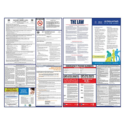 2017 Ohio State And Federal Labor Law Poster Set   Laminated   All In One Osha   Oh Compliant  Laminated
