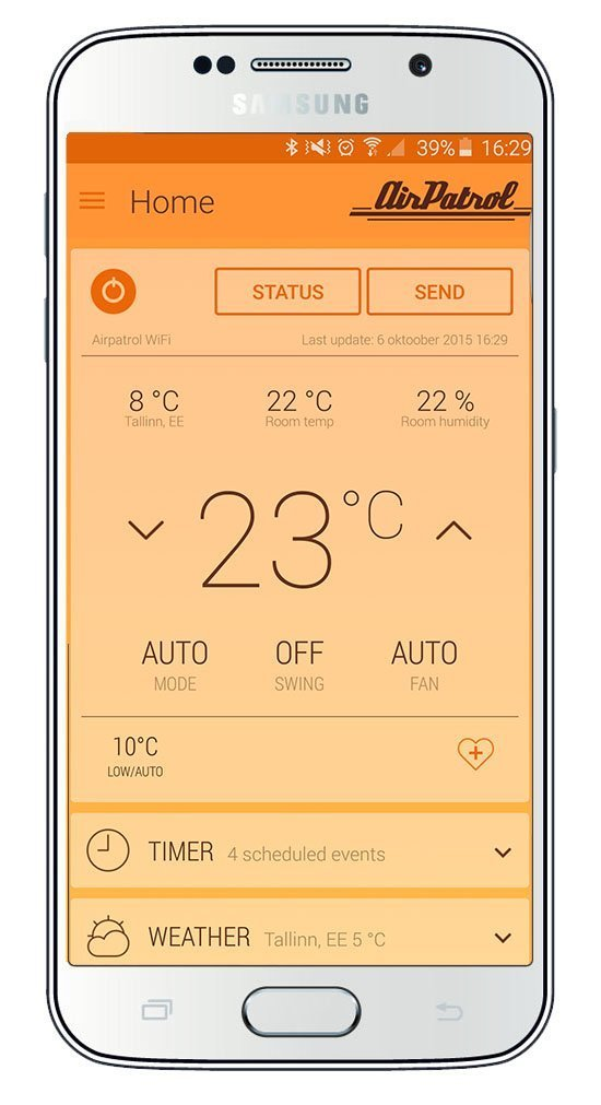 AirPatrol WiFi. Smart Air Conditioner Controller for mini-split, window or portable AC. iOS/Android Compatible, US Version, Works with Amazon Alexa with IFTTT by AirPatrol (Image #4)