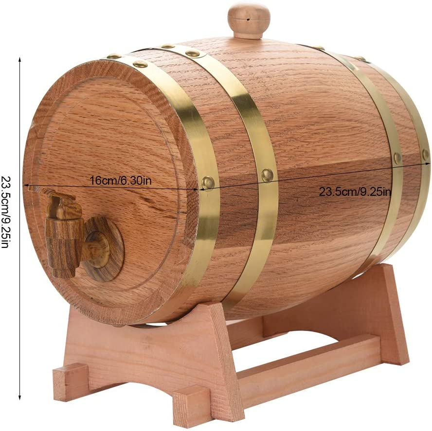 Barril de madera de roble para whisky, vino, tequila, ideal para fiestas, regalos, 3 L