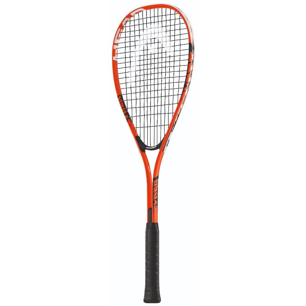 HEAD Cyber Edge 195 Beginners Squash Racquet - Pre-Strung Head Light Balance Racket