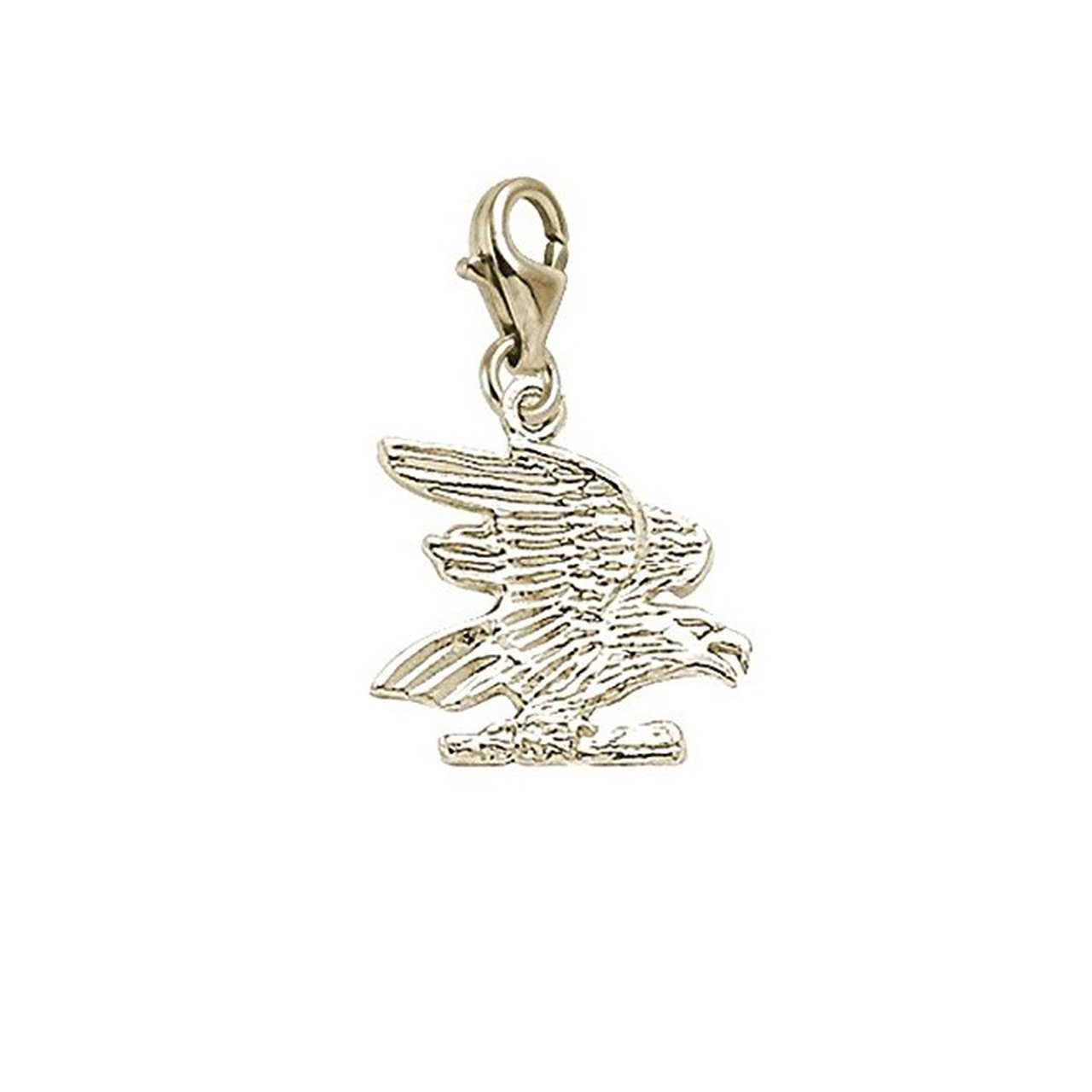Charms for Bracelets and Necklaces Eagle Charm With Lobster Claw Clasp