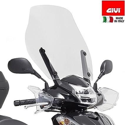 Parabrezza Specifico Da Montare Sugli Attacchi Del Parabrezza Originale Optional Honda 51 5 X 49 Cm H X L Givi D1143st Auto