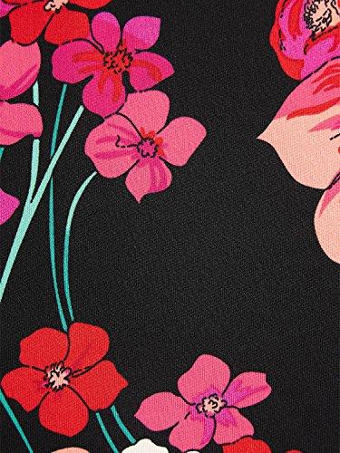 Jupe Femme Fleurs Louie King Noir Sn1X0qR