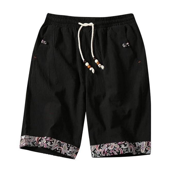Alangbudu Cotton Linen Swimsuit Slim Fit Swim Trunks Elastic ...