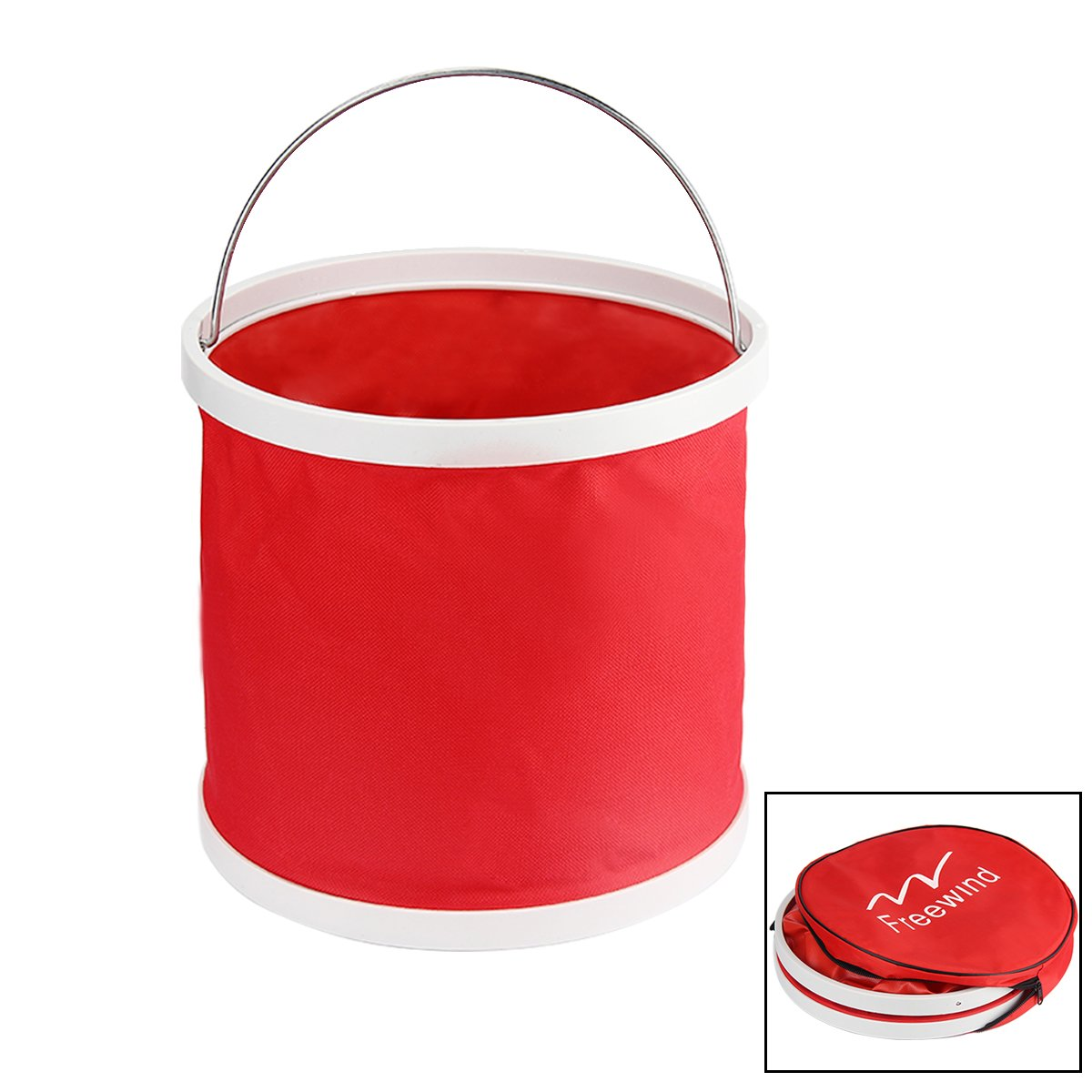 Evaliana 9L Collapsible Bucket Folding Water Container Wash Basin Camping Travel Fishing