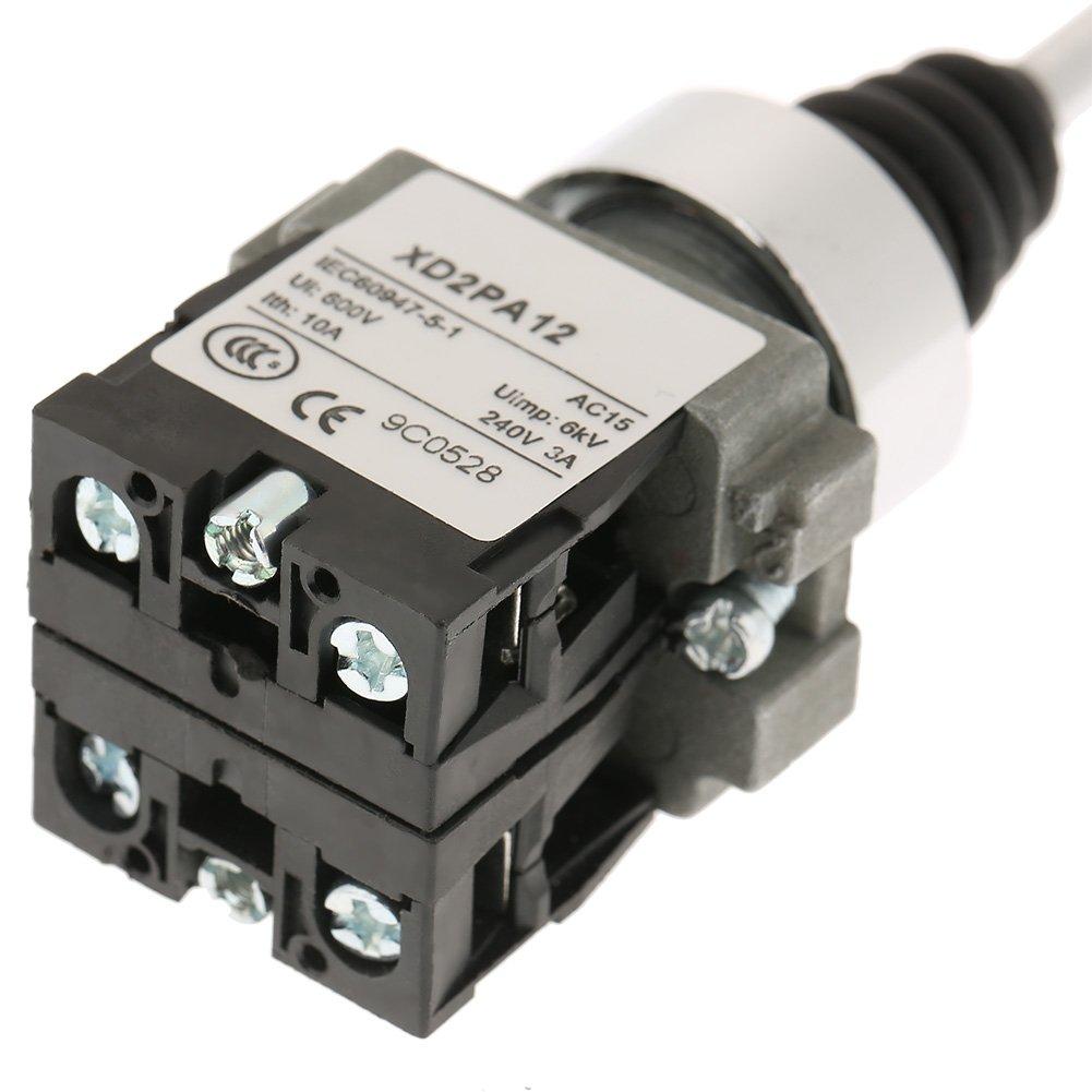 2 posiciones 2NO Bloqueo de interruptor de joystick ajustado para XD2PA12 Interruptor de joystick industrial Interruptor de reemplazo industrial