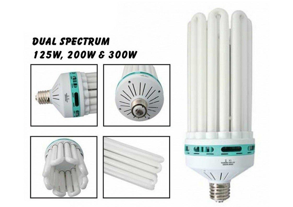 125w 200w 300w CFL Dual Light Bulb Red and Blue Hydroponic Grow Tent Swiftair (125W)