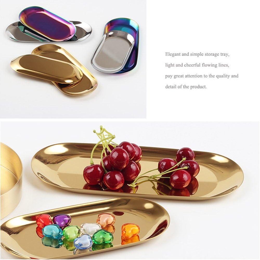 Mehrfarbig 18cm*8.5cm Cutogain Metall Edelstahl Fruit Teller Jewelry Display Langlebig Home Dekoration
