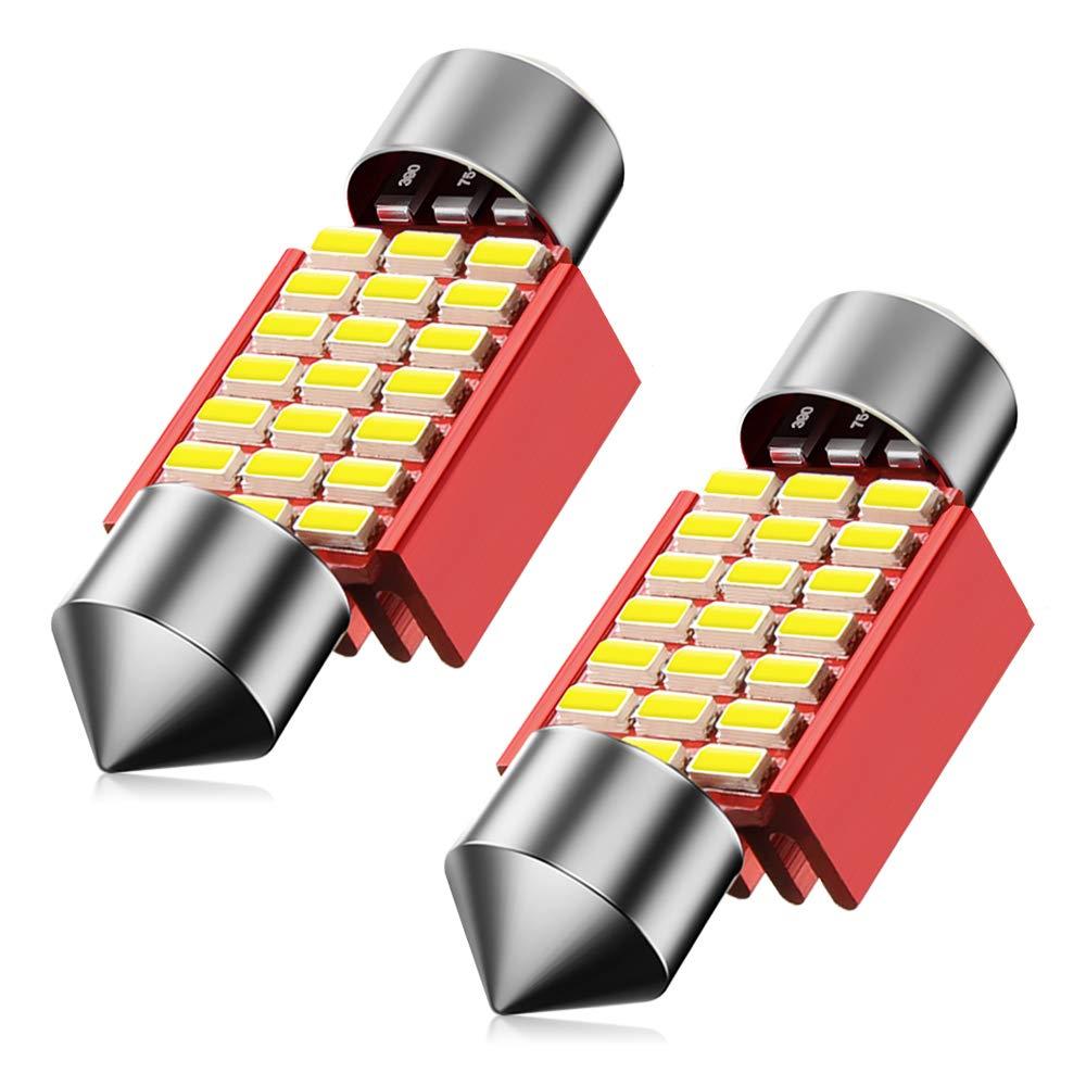 SEALIGHT 31mm Festoon DE3175 LED Bulb Super Bright 21-SMD 3014 Chipsets 6500K White for DE3021 3022 3021 3175 Car Interior Lights Map Dome Door Courtesy Light Bulbs Pack of 2