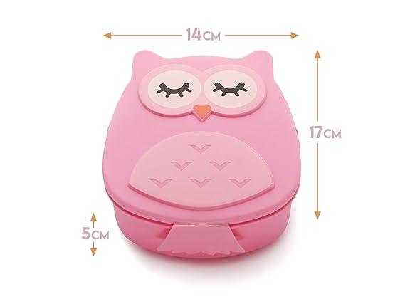 Kumiko fiambrera búho sin BPA 4 Varios Colores (rosa): Amazon.es: Juguetes y juegos