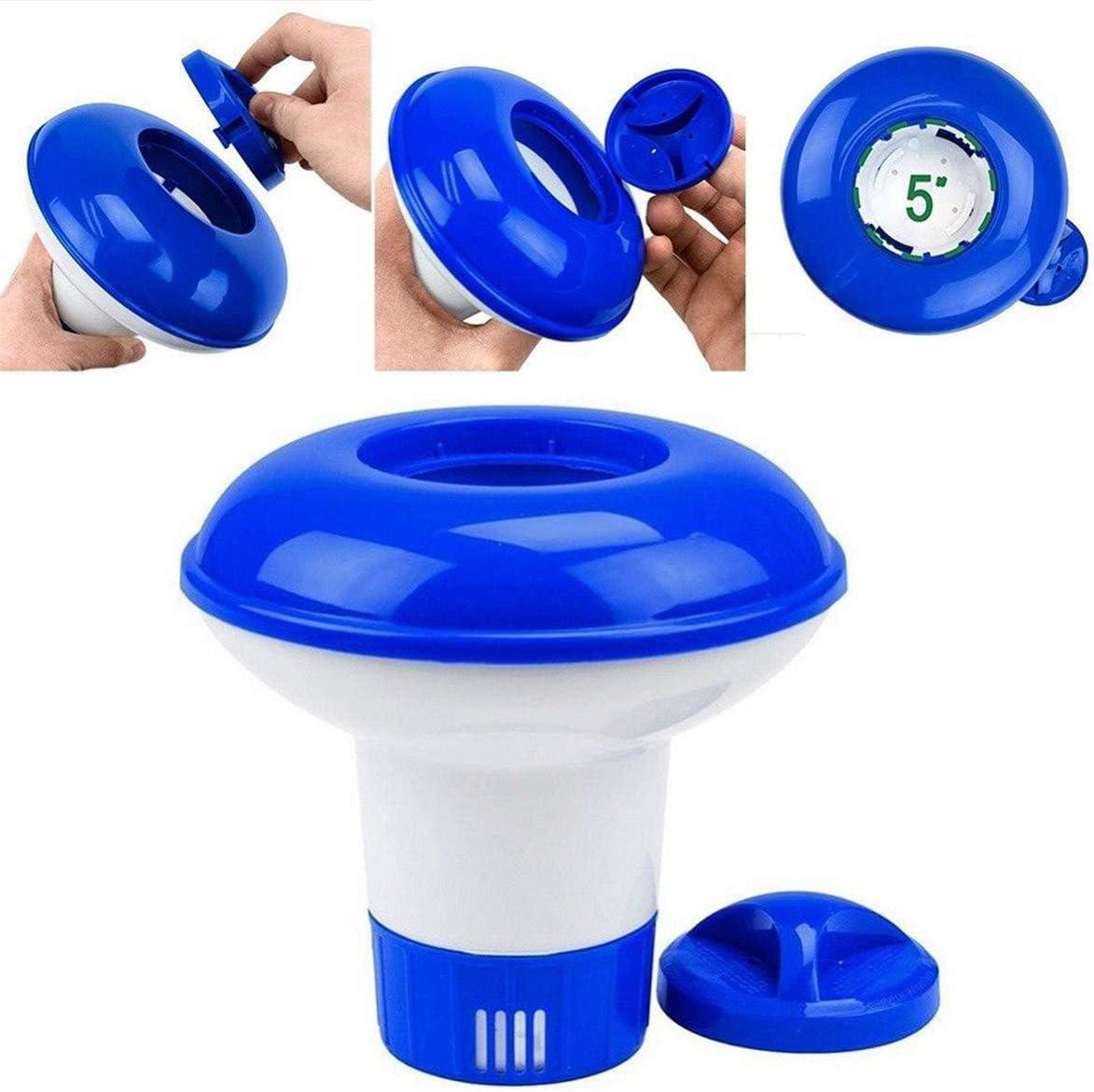 Flotador de Cloro para Pastillas de Cloro, Flotador de Tabletas de Cloro para Piscina, Dispensador de Cloro, Dosificador Pastillas Flotante Piscina
