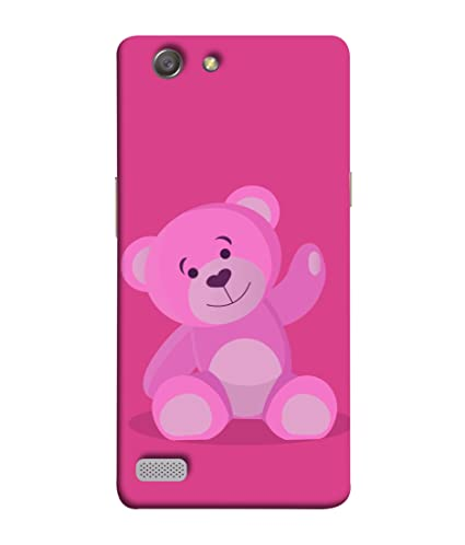 cheaper 829a1 1624b Oppo Neo 7, Oppo A33 Back Cover Pink Colour Teddy Bear: Amazon.in ...