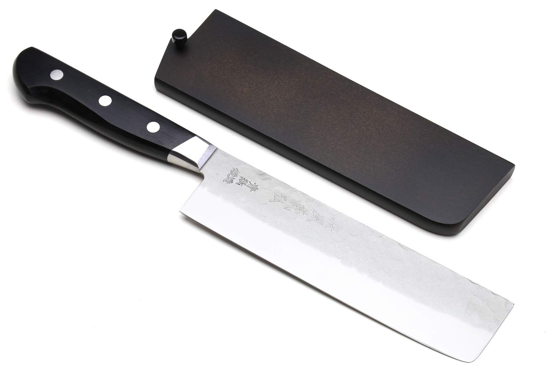 Yoshihiro Aoko Stain Resistant Steel Nakiri Japanese Vegetable Knife (6.5'' (165mm) & Saya) by Yoshihiro