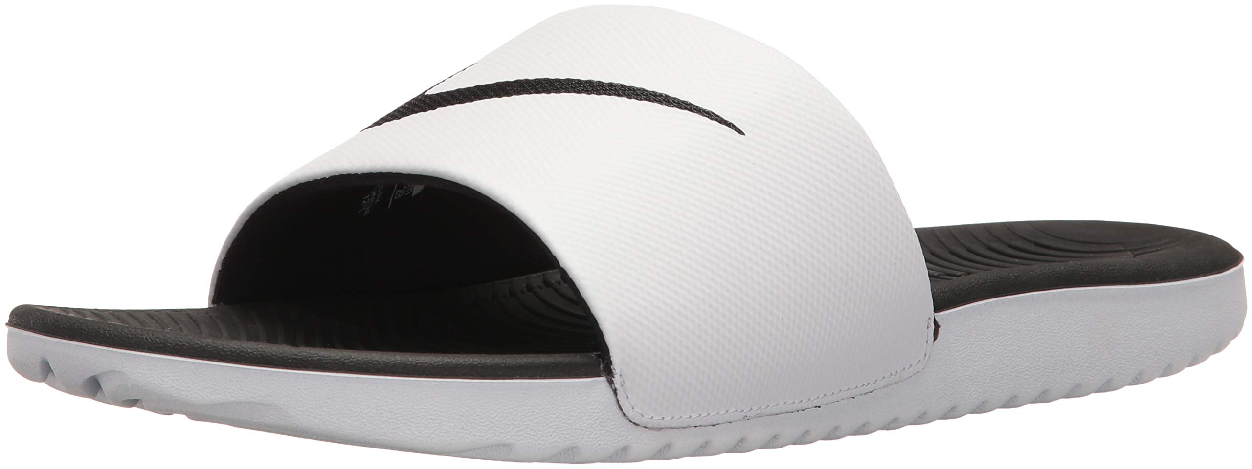 Nike Men's Kawa Slide Sandal, White/Black, 7 Regular US by Nike