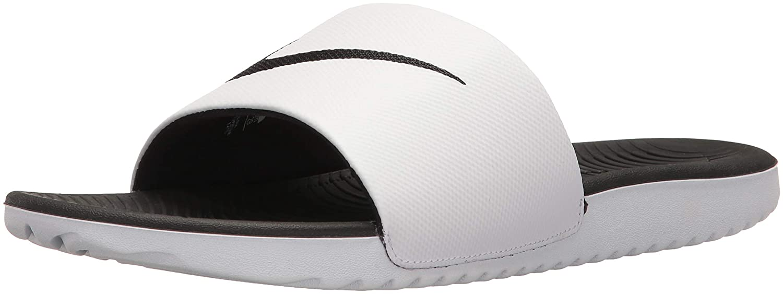 the latest df42f 8d634 Nike Kawa Slide Chaussures de Fitness Homme, Blanc (White Black 100) 44 EU   Amazon.fr  Chaussures et Sacs