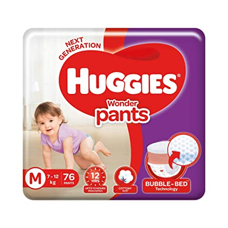 Image result for Huggies Wonder Pants Diapers, Medium (Pack of 76)