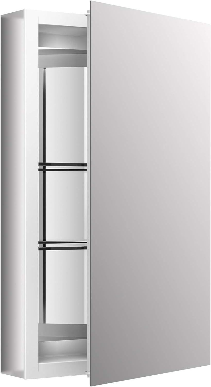 Amazon Com Kohler 15 In X 26 In Recessed Or Surface Mount Medicine Cabinet In White Powder Coat Aluminum Home Improvement