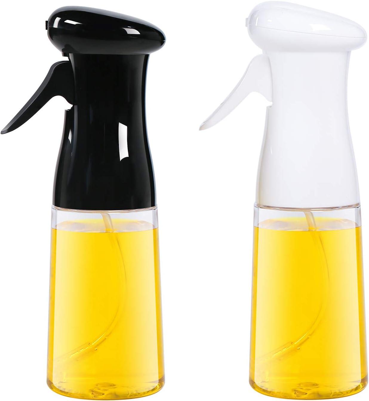 AMINNO Oil Sprayer for Cooking 2 Pack, Oil Sprayer Mister for Air Fryer, Versatile Oil Spray Bottle for Grilling Roasting Baking Salad BBQ, Food Grade BPA free, Ergonomically Designed 7oz/200ml