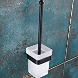 Regalmix RWF216 Bathroom Toilet Brush with Holder Wall Mount, Black Brass Antique Oil Rubbed Bronze