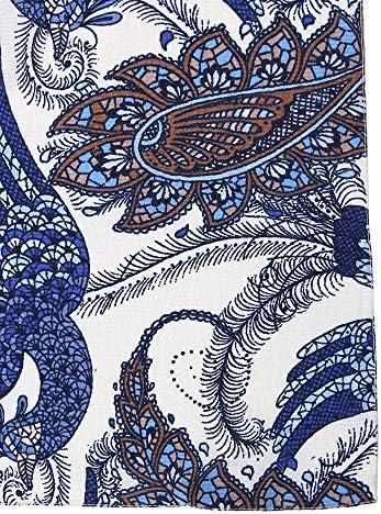 (ザ・スーツカンパニー) Daniel/ペイズリー&バードプリント シルクネッカチーフ ブルー系